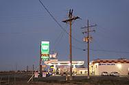 Gas Station at dask, Rupert, Idaho, USA
