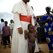 Cardinal Turkson makes a pastoral visit to Ekumfi Nanaben, Ghana, June 9, 2007.