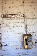 Phone booth in Las Martinas, Pinar del Rio, Cuba.