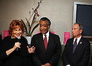 l to r: Joy Behar, Rev. Al Sharpton and Mayor Michael Bloomberg at Rev. Al Sharpton's 55th Birthday Celebration and his Salute to Women on Distinction held at The Penthouse of the Soho Grand on October 6, 2009 in New York City