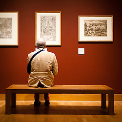 London, Uk - 18 September 2012: a man sits and views drawings during the Press Preview for the British Museum's Renaissance to Goya: Prints and Drawings from Spain exhibition curated by Mark McDonald