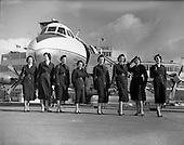 1958 - Eight Aer Lingus Air Hostess's at Dublin Airport