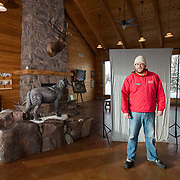 Tim at the Wolf and bear sanctuary in West Yellowstone, Montana<br />