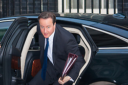 Downing Street, London, January 27th 2015. Ministers attend the weekly cabinet meeting at Downing Street. PICTURED: Prime Minister David Cameron