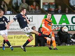 Falkirk's Blair Aston & Jon Daly..Half-time. Dundee Utd 0 v 0 Falkirk. Scottish Communities League Cup, 25/10/2011..Pic © Michael Schofield.