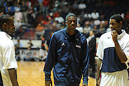 "Ole Miss basketball player Reggie Buckner, who has been suspended indefintely, during the first half at the C.M. ""Tad"" Smith Coliseum in Oxford, Miss. on Monday, November 14, 2011. Buckner was suspended for conduct detrimental to the team, according to head coach Andy Kennedy.."