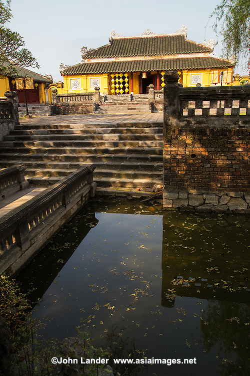 """""""Palace of Longevity"""" or Truong Sanh Residence was the home of King Tu Duc's mother, Empress Tu Du of the Nguyen Dynasty within the Hue Citadel palace grounds. The residence contains decorative rock formations and a colorful palace gate."""