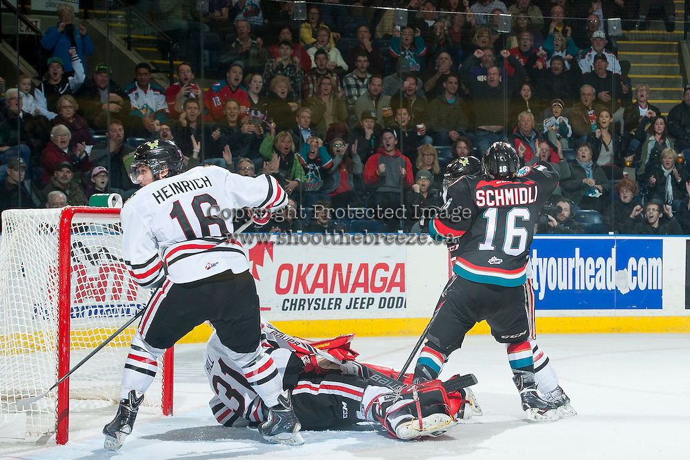 KELOWNA, CANADA - NOVEMBER 22:  on November 22, 2014 at Prospera Place in Kelowna, British Columbia, Canada.  (Photo by Marissa Baecker/Shoot the Breeze)  *** Local Caption ***