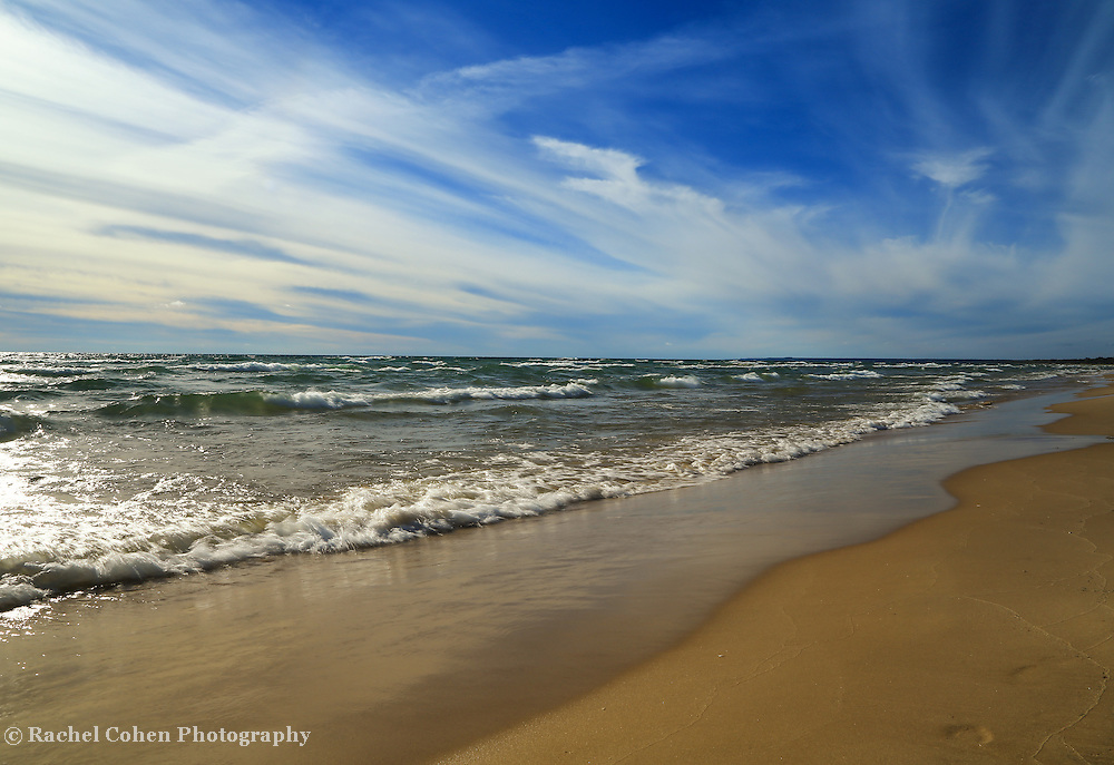 &quot;Lake Michigan&quot; 1<br /> <br /> Scenic shores of Lake Michigan in the Upper Peninsula of Michigan!!<br /> <br /> The Great Lakes by Rachel Cohen