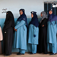 USE ARROWS &larr; &rarr; on your keyboard to navigate this slide-show<br /> <br /> Khartoum, Sudan, 11 April 2010<br /> Sudanese women wait to vote in a polling station during the presidential elections in Sudan.<br /> Photo: Ezequiel Scagnetti