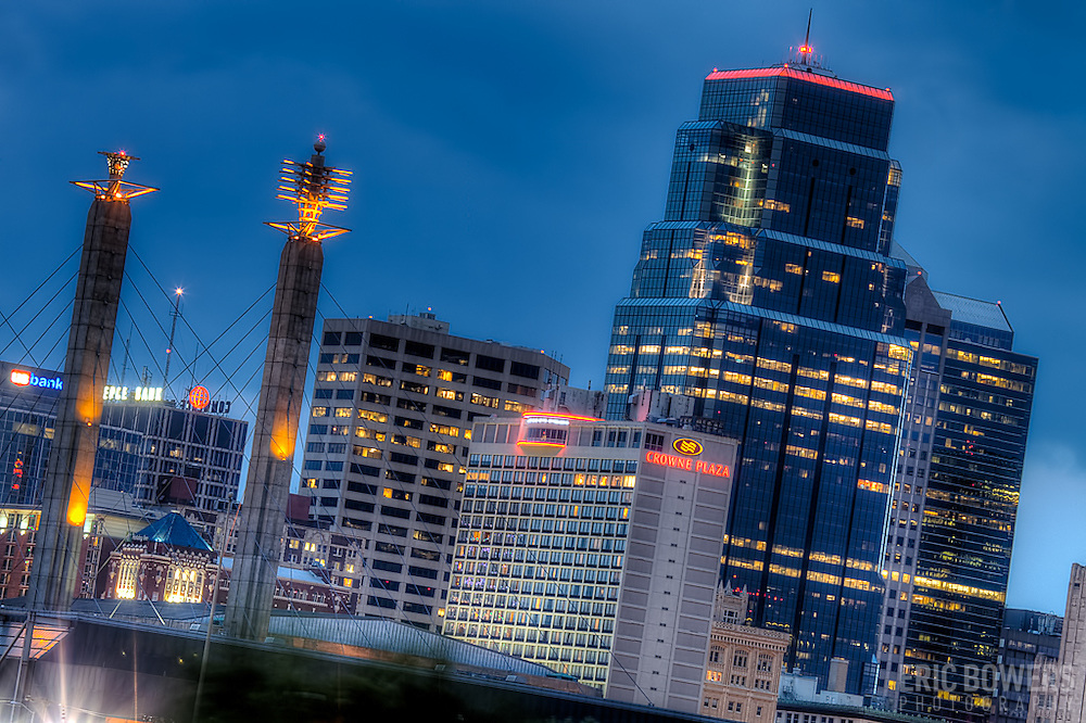 Part of the downtown Kansas City Missouri skyline in May 2011.