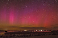 The aurora borealis lit up the sky in this time exposure at Paine's Creek Beach in Brewster.