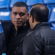 General Manager of Westchester Knicks ALLAN HOUSTON seen during warm ups prior to the first half of a NBA D-league regular season basketball game between the Delaware 87ers and the Westchester Knicks Tuesday, JAN, 19, 2016 at The Bob Carpenter Sports Convocation Center in Newark, DEL