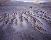 AA00859-01...COLORADO - Fresh snow on the sand dunes in the The Dune Field area of the Great Sand Dunes National Park.