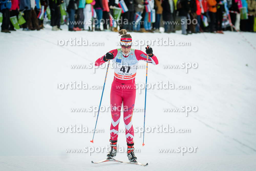 Maya Macisaac-Jones (CAN) during Ladies 1.2 km Free Sprint Qualification race at FIS Cross<br /> Country World Cup Planica 2016, on January 16, 2016 at Planica,Slovenia. Photo by Ziga Zupan / Sportida
