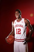 26 September 2013: Indiana Forward Hanner Mosquera-Perea (12) poses for a portrait during the Indiana Hoosiers media day in Bloomington, Ind.