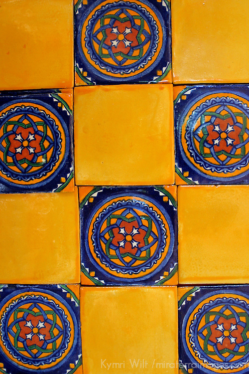 Latin America, Mexico, Dolores Hidalgo. Talvera tiles of Mexico