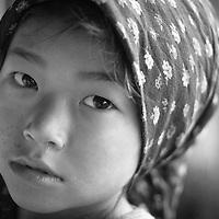 Young girl in the small mountain village of Seduwa, Nepal.