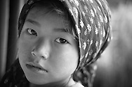 Young girl in the small mountain village of Seduwa, Nepal.