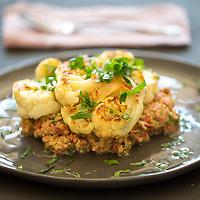 Cauliflower Steak & Veggie Tartare