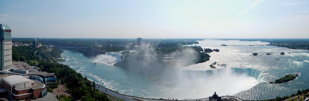 Panorama of Niagara Falls at morning