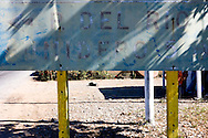 Direction sign in Puente de Cabezas, Pinar del Rio, Cuba.
