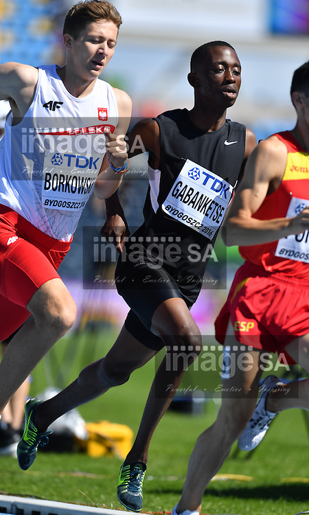 BYDGOSZCZ, POLAND - JULY 22: Gorata Gabankitse of Botswana in the heats of the mens 800m during day 4 of the IAAF World Junior Championships at Zawisza Stadium on July 22, 2016 in Bydgoszcz, Poland. (Photo by Roger Sedres/Gallo Images)
