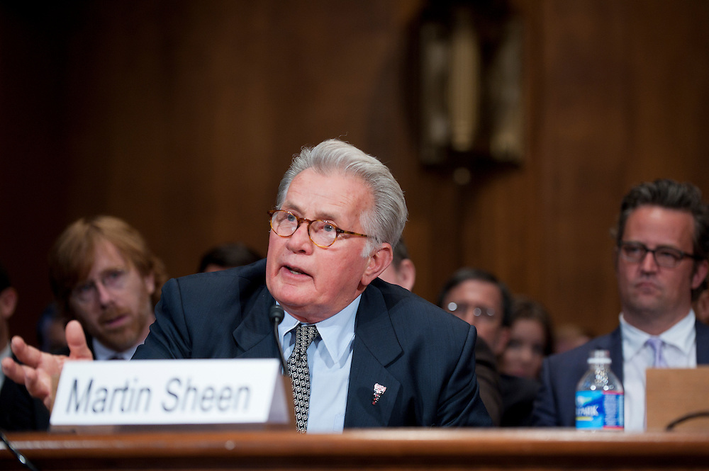 """Actor MARTIN SHEEN during a Senate Judiciary Committee hearing """"Drug and Veterans Treatment Courts: Seeking Cost-Effective Solutions for Protecting Public Safety and Reducing Recidivism."""""""