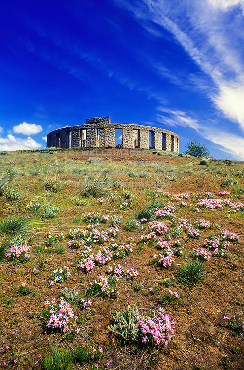 Image of the Maryhill Stonehenge in Maryhill, Washington, Pacific Northwest