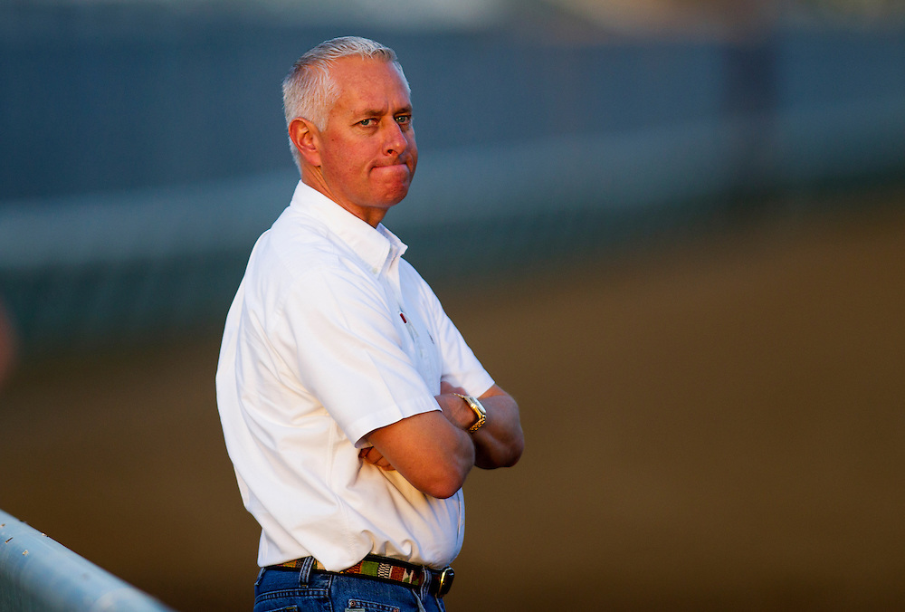 Trainer, Todd Pletcher at Churchill Downs in Louisville, KY on May 01, 2013. (Alex Evers/ Eclipse Sportswire)
