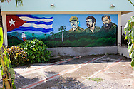Revolutionary sign in Buenaventura, Holguin, Cuba.