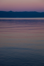 """Sunset at Lake Tahoe 6"" - This peaceful sunset was photographed from the West shore of Lake Tahoe, California."