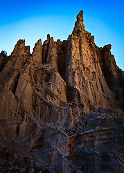 Rock formations at Plaza Blanca near Abiquiu, New Mexico.
