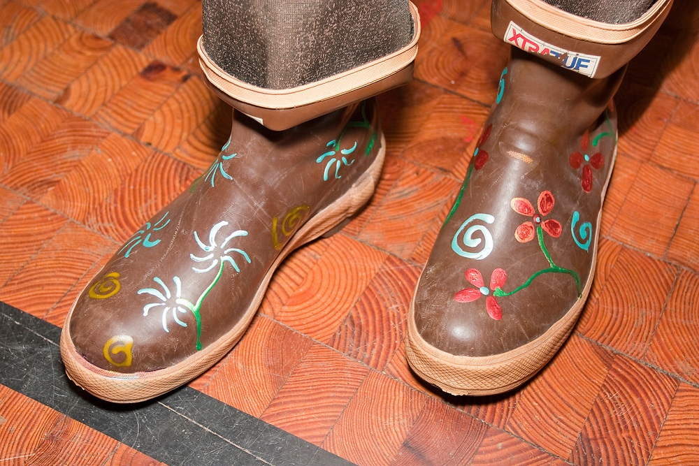 Festive Xtra Tuf boots show off the owner's talents and personality.