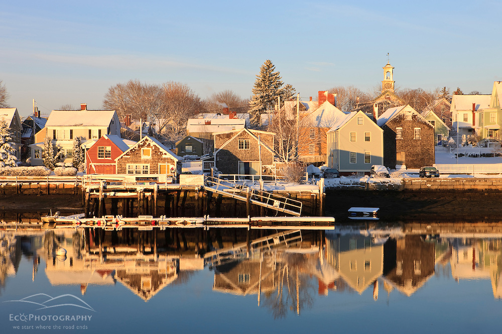 The South End of Portsmouth, New Hampshire as seen from Pierce Island in winter.