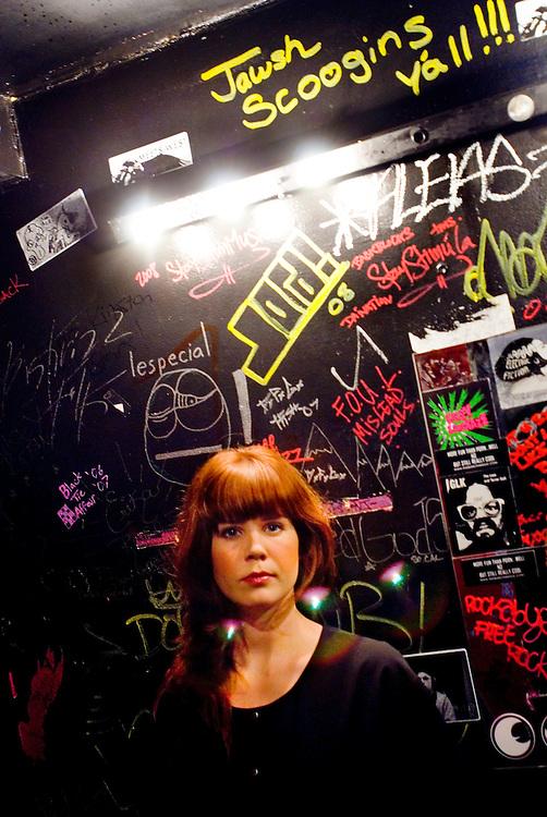 Johanna Asplund of Sahara Hotnights backstage at The Knitting Factory, New York<br /> <br /> Photographer: Chris Maluszynski /MOMENT