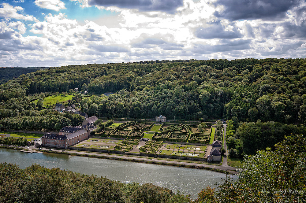 The Castle of Freÿr, on the Meuse River, in Wallonia, Belgium, near Dinant.