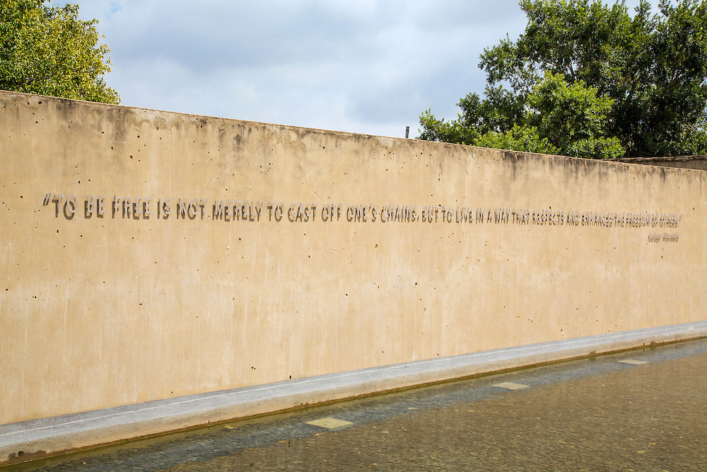 "The Apartheid Museum opened in 2001, and illustrates the rise and fall of apartheid in South Africa. ""To be Free is not merely to cast ones chains but to live in a way that respects and enhances the Freedom of others"" is a quote from Nelson Mandela"