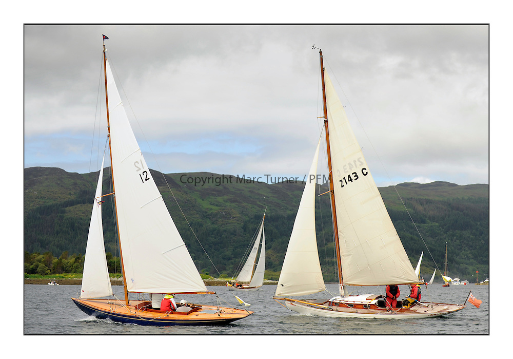 Day three of the Fife Regatta, Cruise up the Kyles of Bute to Tighnabruaich<br /> <br /> Coralie, Ewan McEwan, GBR, Bermudan Sloop, Wm Fife 3rd, 1928<br /> Mignon, Bob Fisher, GBR, Bermudan Sloop, Wm Fife 3rd, 1898<br /> <br /> * The William Fife designed Yachts return to the birthplace of these historic yachts, the Scotland&rsquo;s pre-eminent yacht designer and builder for the 4th Fife Regatta on the Clyde 28th June&ndash;5th July 2013<br /> <br /> More information is available on the website: www.fiferegatta.com