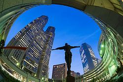 Sculpture and Government Metropolitan City Hall in Shinjuku Tokyo