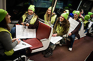 Concordia University Wisconsin, Mequon, Wis., students take the Metro to the March for Life 2017 on Friday, Jan. 27, 2017, in Washington, D.C. LCMS Communications/Erik M. Lunsford