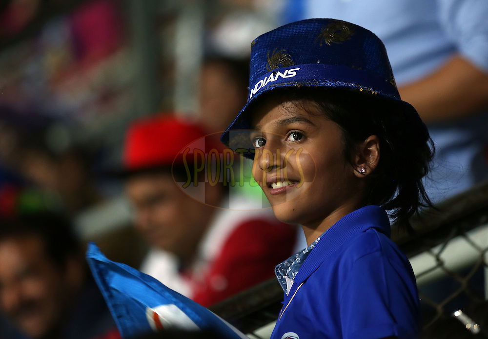 Fans enjoy during match 1 of the Vivo Indian Premier League ( IPL ) 2016 between the Mumbai Indians and the Rising Pune Supergiants held at the Wankhede Stadium in Mumbai on the 9th April 2016<br /> <br /> Photo by Sandeep Shetty/ IPL/ SPORTZPICS