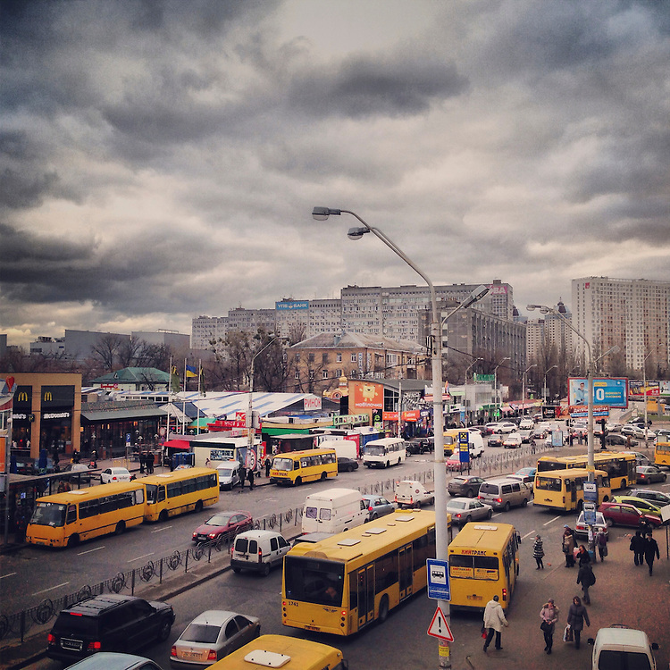 A street view on December 5, 2013 in Kiev, Ukraine.