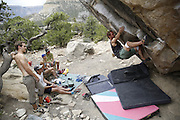 SHOT 6/11/16 1:48:48 PM - Emery County Utah tourism photos including hiking at the site of Rochester Creek Rock Art with Jonathan Hunt and his young family, bouldering in Joe's Valley and mountain biking The Wedge Overlook with Lamar Guymon and some MECCA Bike Club Members. (Photo by Marc Piscotty / © 2016)