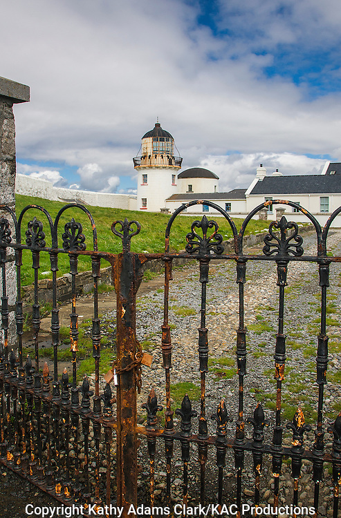 Gates to Clare Island lighthouse off coast of western Ireland.