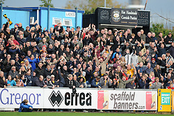 Newport County fans celebrate - Mandatory byline: Dougie Allward/JMP - 07966 386802 - 24/10/2015 - FOOTBALL - Memorial Stadium - Bristol, England - Bristol Rovers v Newport County AFC - Sky Bet League Two