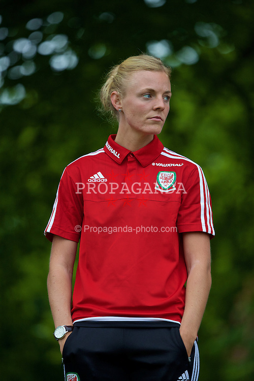 CARDIFF, WALES - Wednesday, June 1, 2016: Wales women's player Sophie Ingle during a training session at the Vale Resort Hotel ahead of the International Friendly match against Sweden. (Pic by David Rawcliffe/Propaganda)