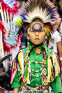 Gathering of Nations Pow Wow, Albuquerque, New Mexico, Traditional Dancer, kids