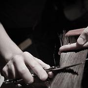 04/17/11 Philadelphia PA: Scissor Candy Open Chair #9 guest Stylist Tara working on Jayce McAnena hair during open chair #9 Sunday night April 17, 2011, at National Mechanics in Philadelphia Pennsylvania...Special to Monsterphoto/SAQUAN STIMPSON..http://www.monsterphotoiso.com.http://www.scissorcandy.com/