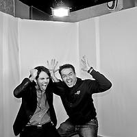 Spanish photographer KIKE CALVO with Rassiel Rodriguez, anchor of Panamanian Wheel of Fortune